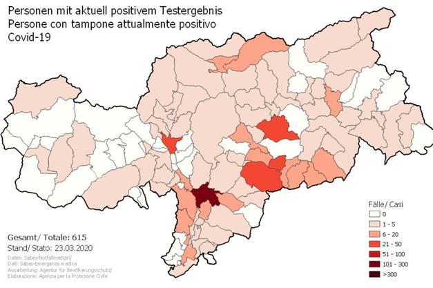 Cartina Trentino Alto Adige Dettagliata.Coronavirus Online La Mappa Dei Contagi In Alto Adige Cronaca Trentino