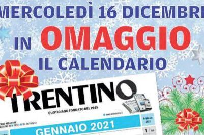 Mondiali 2021 Calendario Domani Domani, 16 dicembre, con il Trentino in regalo il calendario 2021