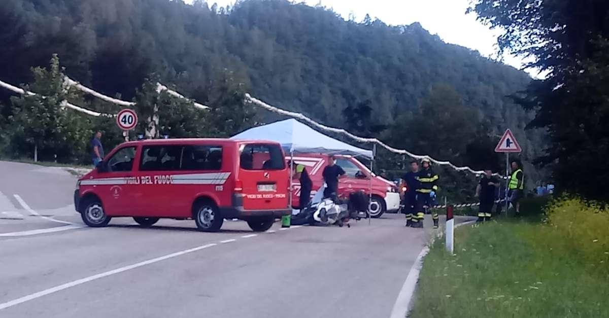 Tragedia a Pergine, morto un motociclista - Trentino