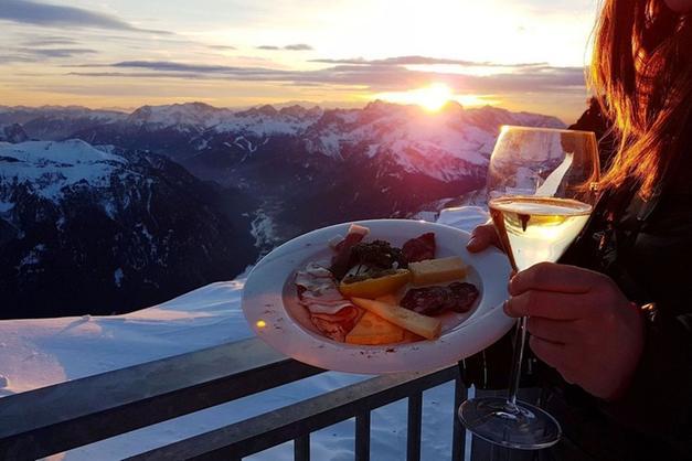 La magia del tramonto dal Sass Pordoi - Trento - Trentino